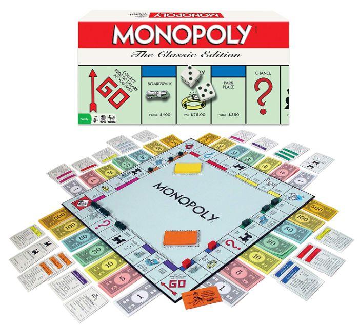 geschenke für den freund, monopoli spielen ideen zum überraschen von einem freund, monopoly spielen macht immer spaß