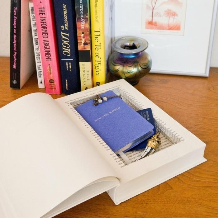 geschenkideen beste freundin selber machen, eine box in der form von buch, geheimes kasten