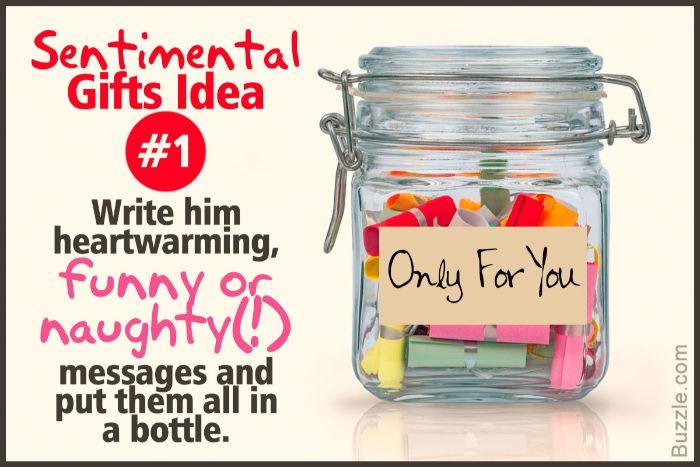 geschenke für männer die alles haben, sentimentale geschenkidee für ihn, ein glas voll von botschaften