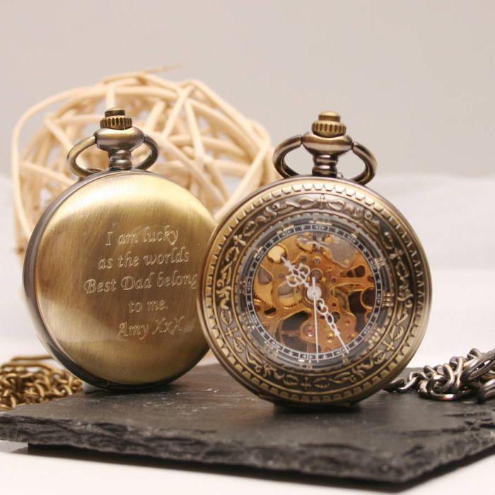 kleine geschenke für männer, taschenuhr, vintage geschenke mit botschaft