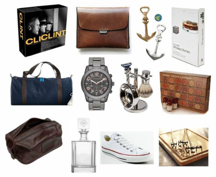 geschenke für männer zum geburtstag, viele mögliche geschenkideen auf einmal auf diesem bild