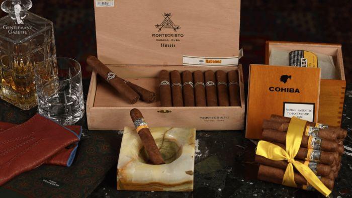 geschenke für männer zum geburtstag, zigaretten in einem coolen kasten, holzkiste, schleife, luxusgeschenk