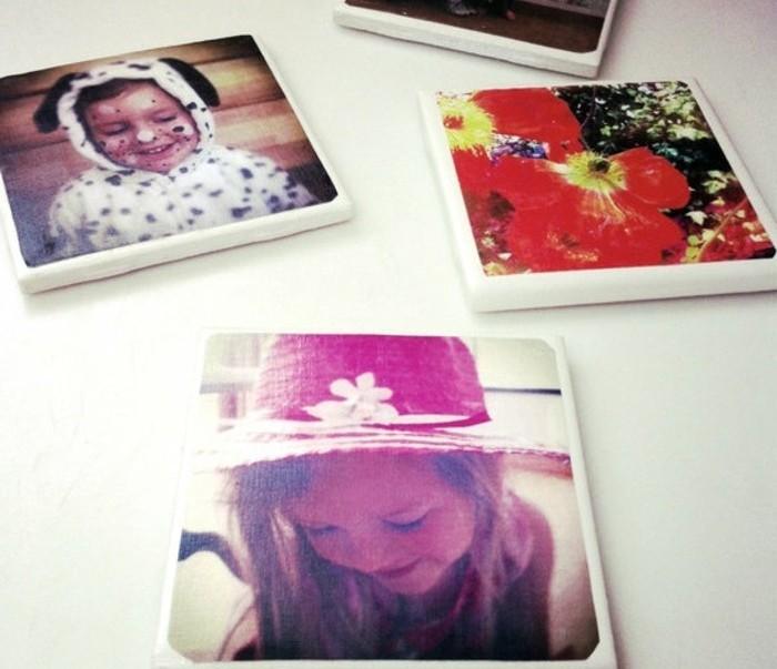 geschenke selber basteln, fotos auf untertassen drucken, fotos von der familie, lustige ideen