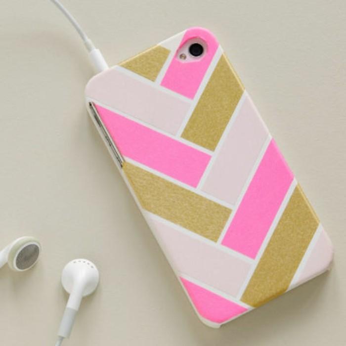 geschenke selbstgemacht, golden und rosa, weiß und rosa, handsfree, kopfhörer