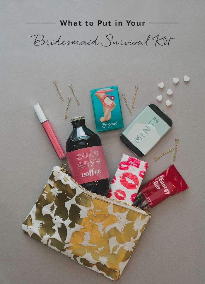 Survival Kit für den großen Tag, beste Geschenkidee für die Braut, alles Nötige für die Hochzeit darin