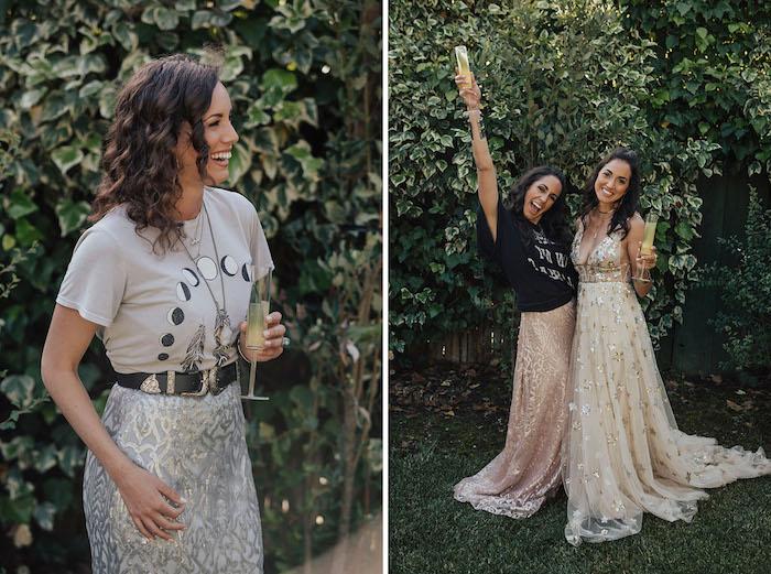 Party Thema Mond für Junggesellenabschied, Dresscode Glitzer, im Freien feiern mit Freundinnen