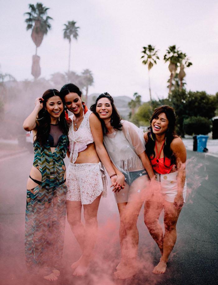 Sommerparty mit Freundinnen planen, lässige Sommer Outfits, coole Ideen für Junggesellinnenabschied