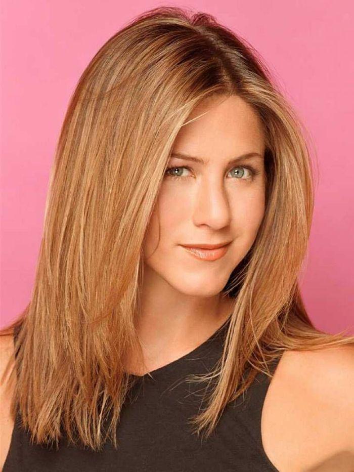 frisuren mittellanges haar, die haarstyles von jennifer aniston, glänzende haare