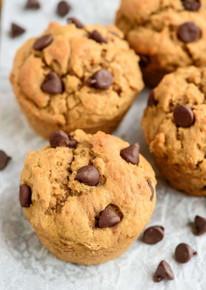 muffins kindergeburtstag, einfache und schnelles rezept mit bananen und schokoladen chips