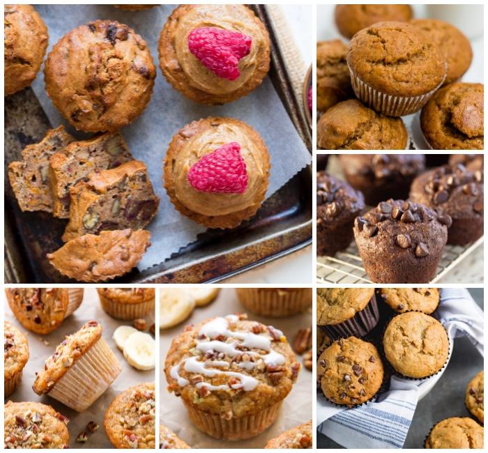 cupcakes mit wallnüssen dekoriert mit schokoladensahne und himbeeren, nutella muffins rezept