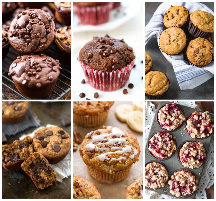 nutella muffins rezept, einfache zubereitung, schnelle cupcakes mit schokoladenchips, geburtstagsessen