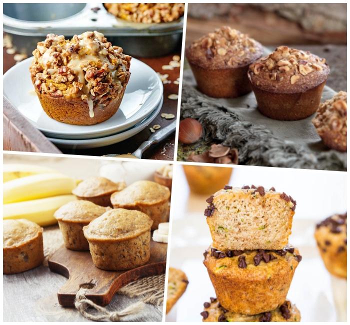vanille cupcakes mit nüssen garniert mit weißer glasur, nutella muffins rezept, partyrezepte einfach und schnell