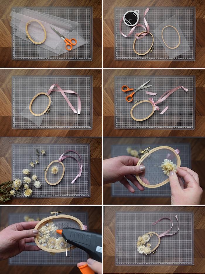 Deko Ostereier selber machen, Anleitung in acht Schritten, mit Trockenblumen verzieren