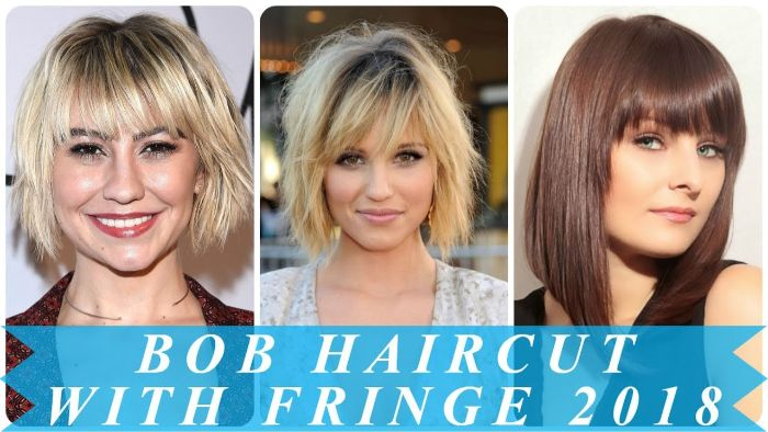 kurzhaarfrisuren bob, drei mögliche gestaltungen und ideen, zwei blonde frisuren und eine rotbraune