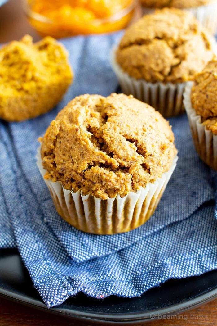 schnelle partyrezepte, vegane muffins mit zimt und kürbis, party essen ideen