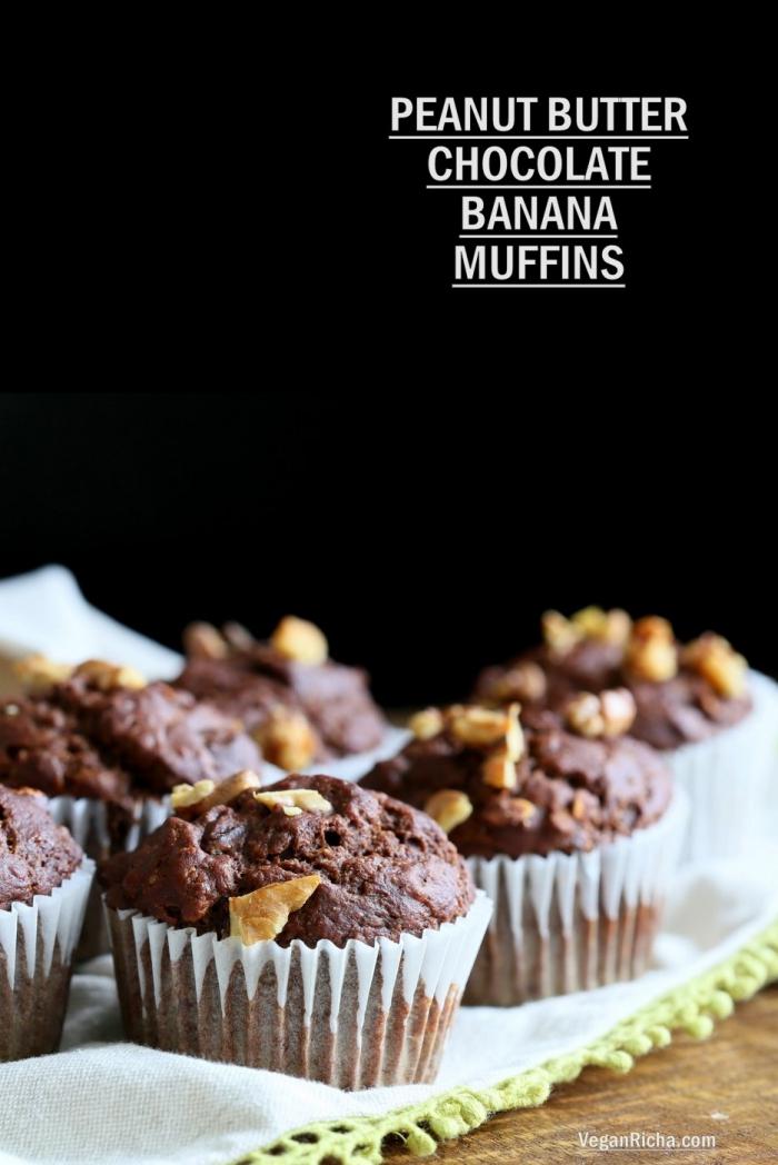 mini muffins mit schokolade, bananen und erdnussbutter, schokomuffin rezept, partzessen