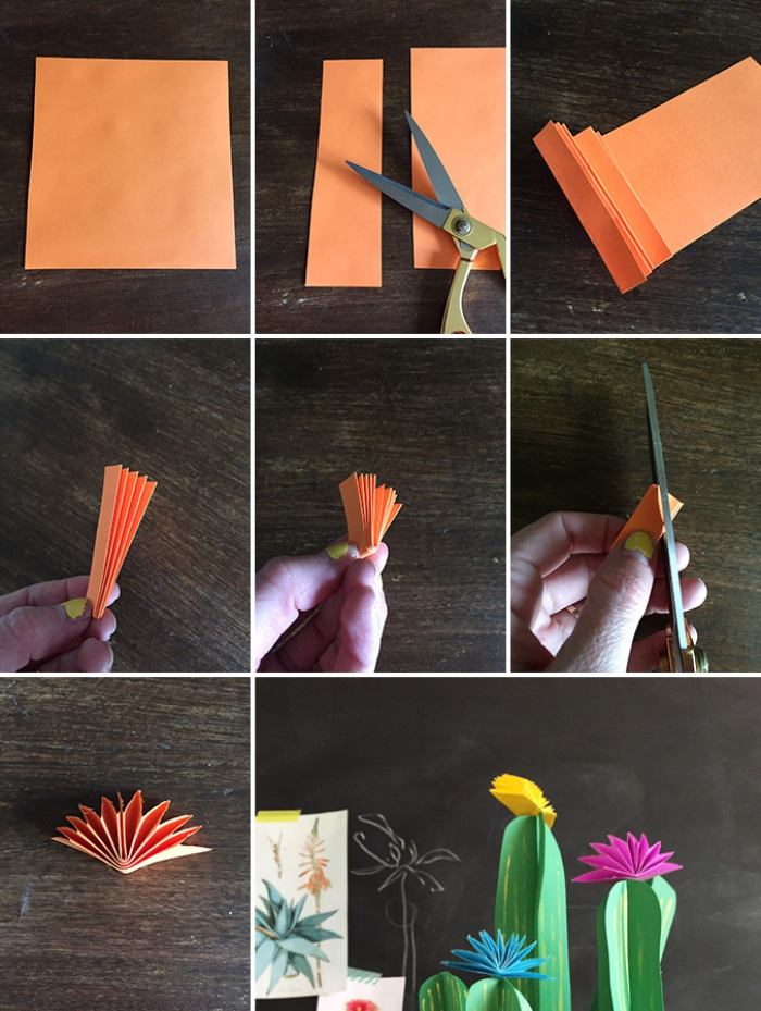 papierpfalnzen selber machen, selbstgemachte geschenke für mama, basteln mit papier