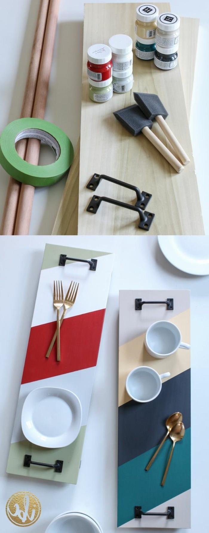 selbstgemachte geschenke zum 18 geburtstag, deko ideen für das zuhause oder tablett zum servieren von frühstück