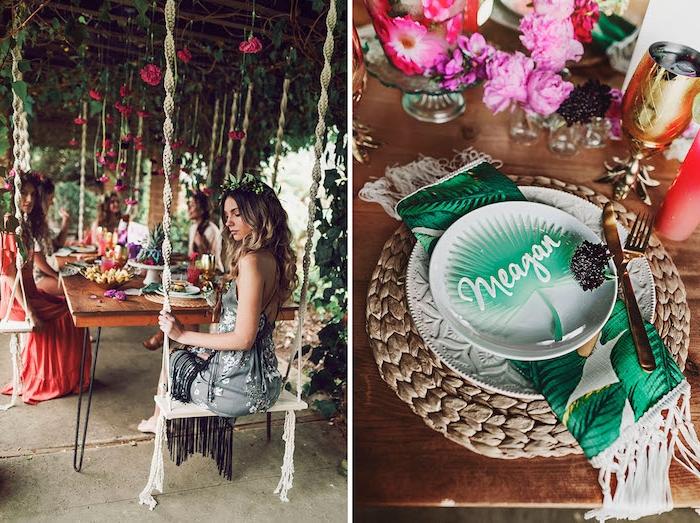 Tropische Party organisieren, Party im Garten mit tropischen Häppchen und Cocktails