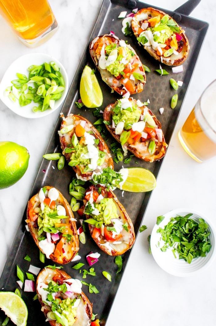 vegan snacks einfach und schnell, party rezepte, finger food rezepte, bruschettas mit gemüse