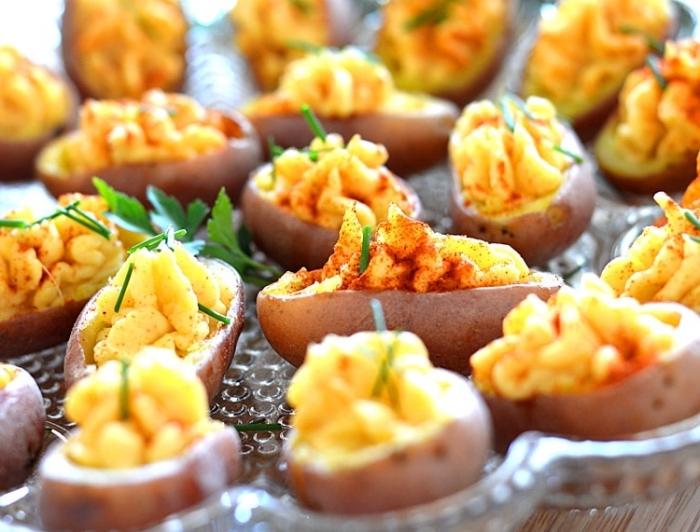 veganer fingerfood, geviled kartoffeln zubereitung, partyessen ideen, party snacks
