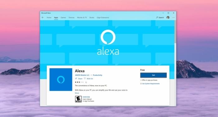 die Alexa App erfreut jetzt ein Update mit Freisprechanlage für Windows Zehn