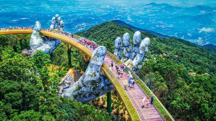 """Die atemberaubende """"Goldene Brücke"""" in Vietnam"""