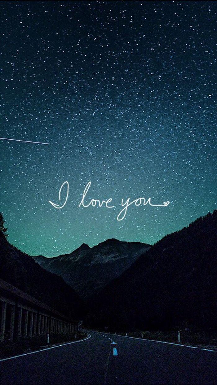 tumblr iphone backgrounds, ich liebe dich mit weiß geschrieben auf dem himmel