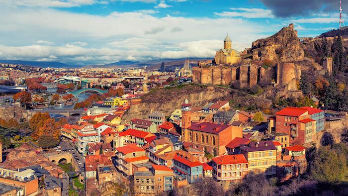 Georgiens Hauptstadt Tiflis, auch Rom des Kaukasus genannt