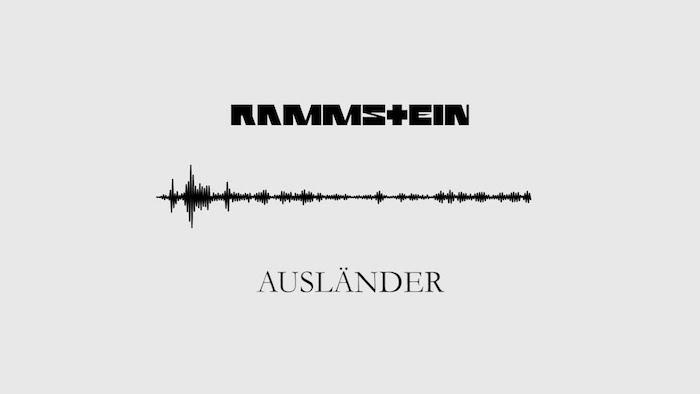 das neue lied von dem deutschen band rammstein ausländer, der schwarze logo von rammstein, neuer clip zu ausländer