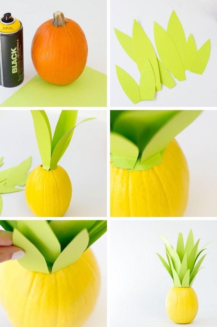 herbstdeko basteln, ananasförmige deko selber machen, anleitung ideen sommer zu hause bringen auch in den kalten zeiten