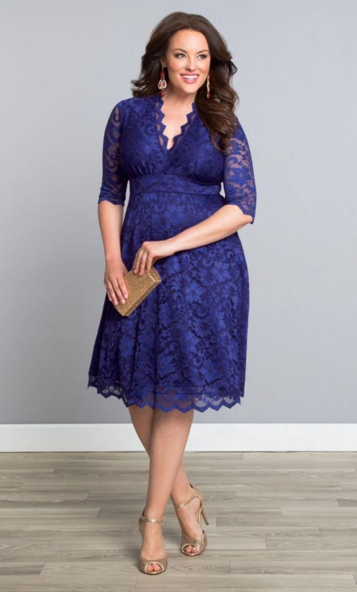 ▷ 1001 + ideen für trendige kleider für mollige frauen