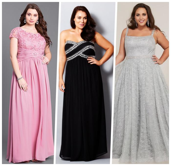 rosa abendkleid mt spitze, festliche kleider große größen, schwarze skleid mit stienen, abbibalkleider