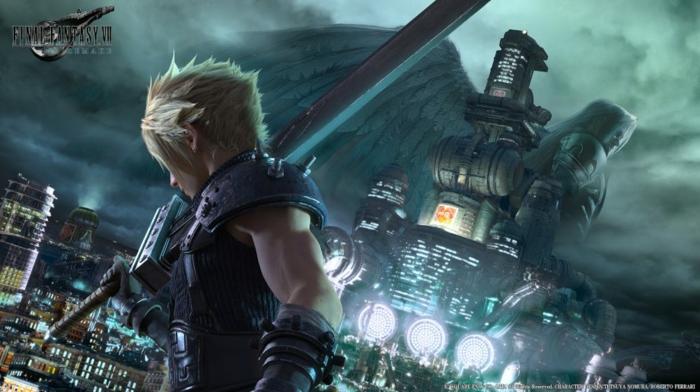 Final Fantasy VII Remake, Sephiroth und Cloud mit ihren Waffen fertig für die letzte Schlacht