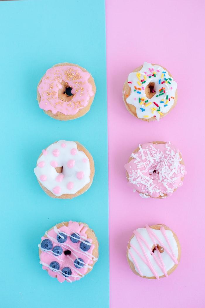 tumblr iphone backgrounds, donuts, donut foodporn bildschirm idee, rosa und blau farben