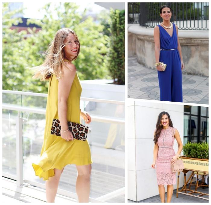 frauen outfits für den sommer, dunkelblaue hemdhose, silberner dünner gürtel, tasche mit tiger motiv