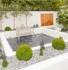 gartengestaltung mit steinen und gräsern hintergarten gestalten außenbereich ideen gartenpflanzen gartendeko