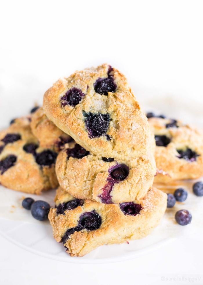glutenfrei backen, kekse mit blaubeeren, rezepte ohne gluten, partyessen ideen, frühstück für gäste