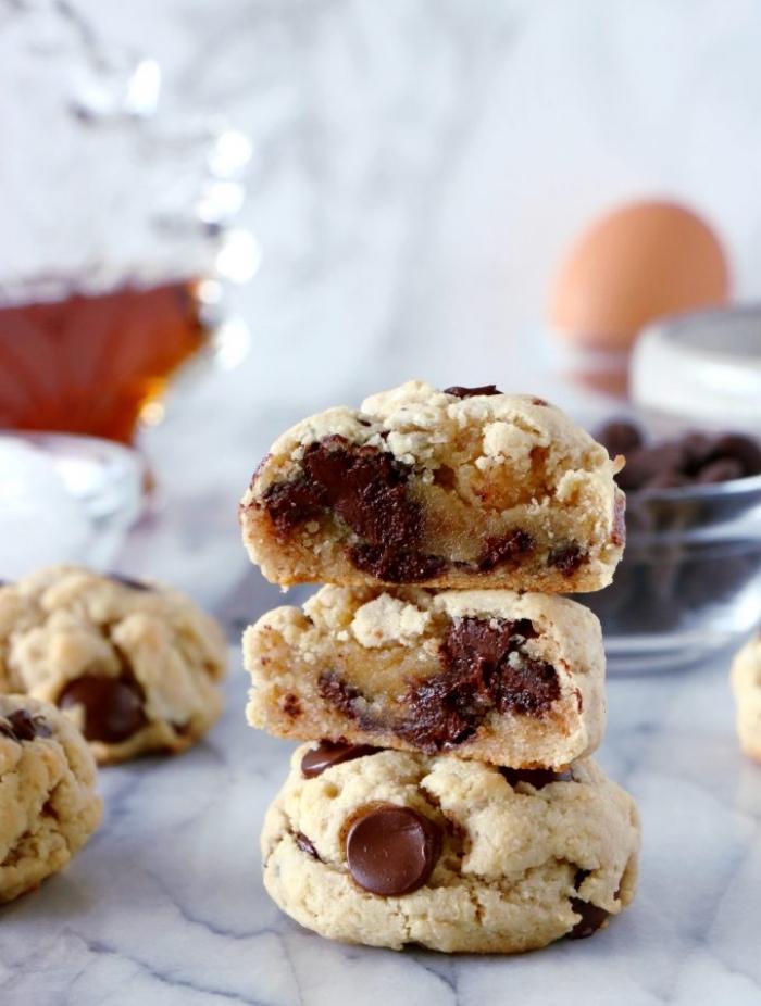 glutenfrei essen, schnelle kekse mit schokoladenchips, partyessen ideen, kekse ohne gluten