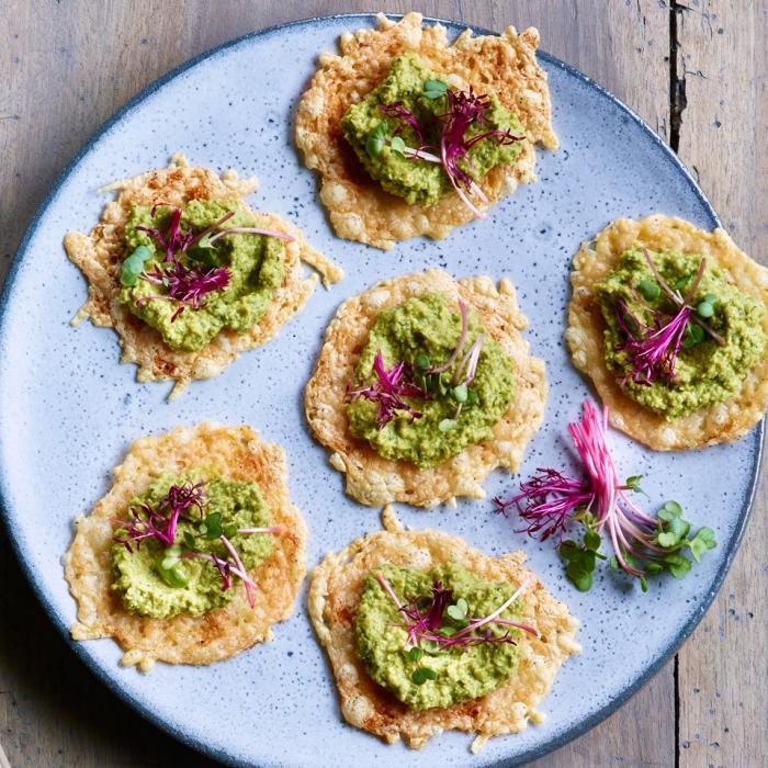 glutenfrei kochen, häppchen mit avocado und kräutern, partyessen ideen, fringerfood rzeepte