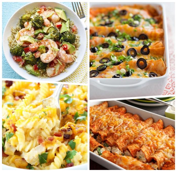 vegane enchiladas, pasta ohne gluten, salat mit garnelen, brokkoli, zucchini und chery tomaten, glutenfreie gerichte,