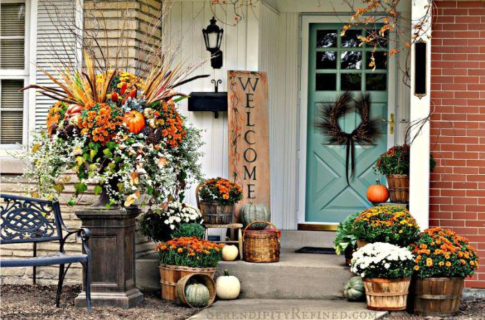 diy deko herbst für draußen prächtige hausdeko selber machen, oktober und november deko