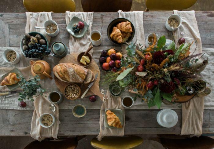 fenster deko herbst, tischdeko für innen oder draußen, deko zum inspirieren zum essen und spaß haben