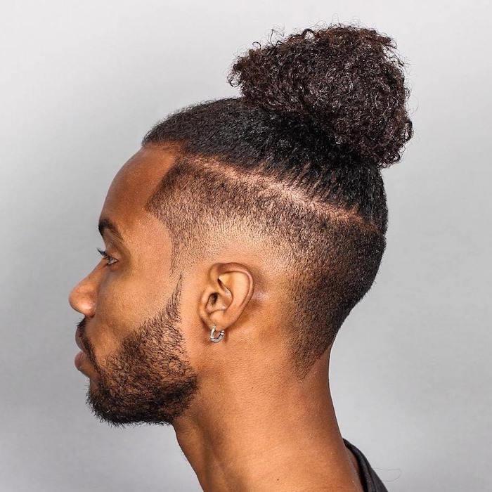 herren frisuren kurz mit lang kombinieren, stil für männer ideen hairstyle