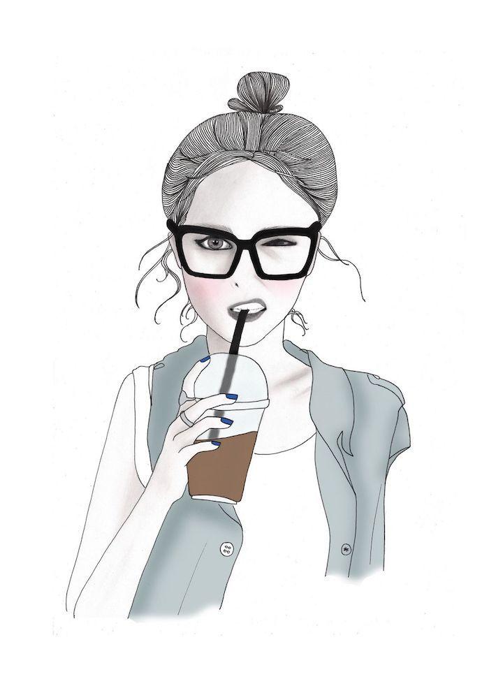 tumblr hintergrundbilder, eine schöne frauenbildidee, karikatur von sich selbst als hintergrund nutzen