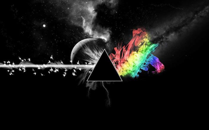 tumblr iphone backgrounds, kreative figuren aufeinander kneten, regenbogen farben beims chwarzen hintergrund