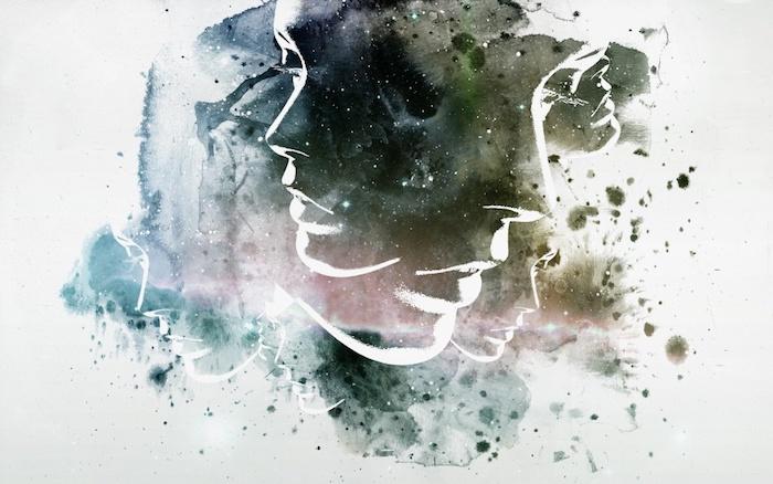 tumblr hintergrundbilder, eine kreative abbildung von frau, farbgestaltung idee