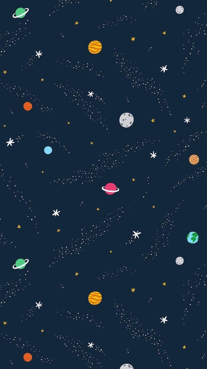 tumblr hintergrundbilder, kosmos bild animiert, planeten und sterne