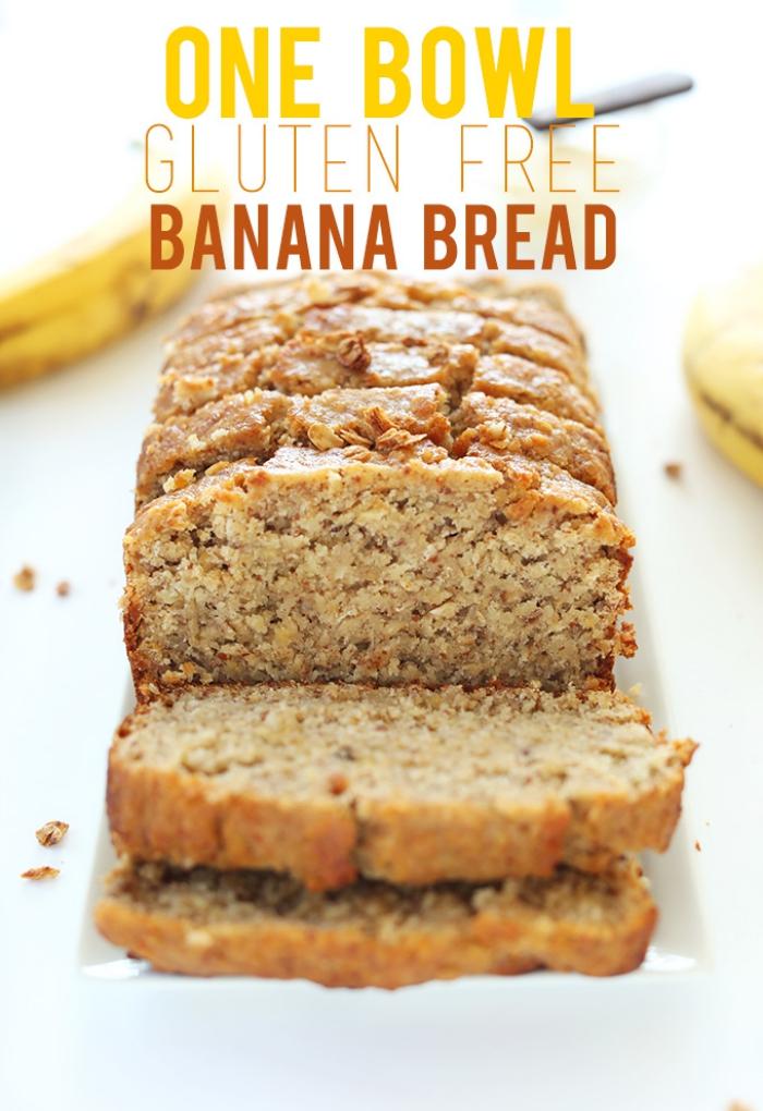 kuchen ohne gluten, bananenbrot zubereitung, kuchen glutenfrei backen rezepte, nachtisch zu weihanchten