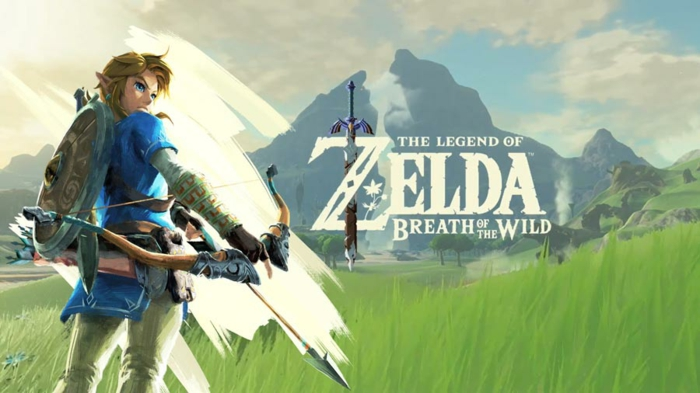 The Legend of Zelda Breath of the Wild Poster, Nintendo Spiel mit Hauptfigur Link, der einen Bogen trägt